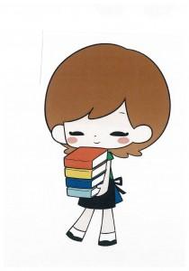 本を持つ子1